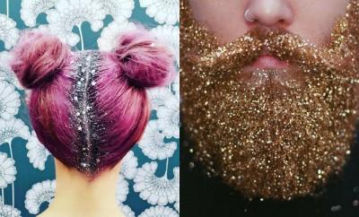 Barba e capelli glitterati